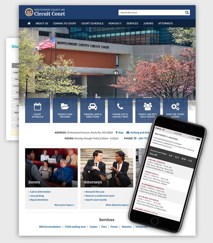 Web design / Circuit Court / Paul Compton