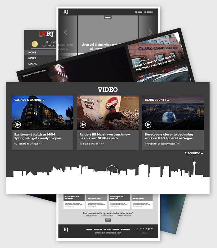 Web design / Las Vegas Review Journal / Paul Compton